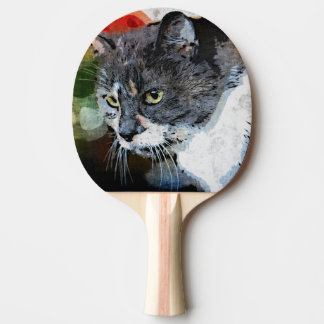 BUBBLES INTENTLY FOCUSED PING PONG PADDLE