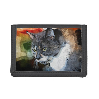 BUBBLES INTENTLY FOCUSED TRIFOLD WALLETS