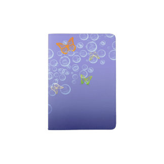 Bubbles n Butterflies Passport Holder