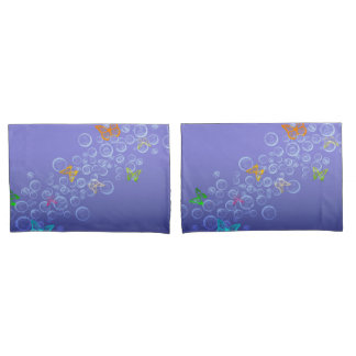 Bubbles n butterflies pillowcase
