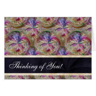 Bubbles Pattern Personalized Thinking of You Card