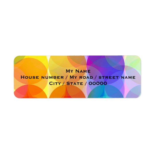 Bubbles - Return Address Labels