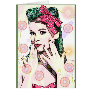 Bubbles Rockabilly Pinup All Occasion Card
