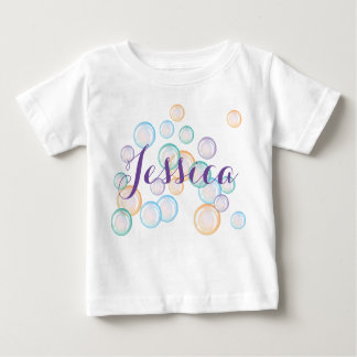 Bubbles shirt, personalize with your chosen name baby T-Shirt