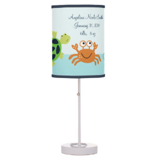 Bubbles & Squirt/Sea Creatures Baby Nursery Lamp