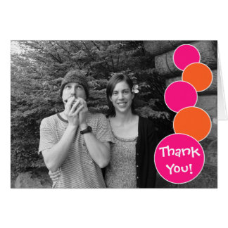 Bubbles Thank You Notecard (Hot Pink / Orange)