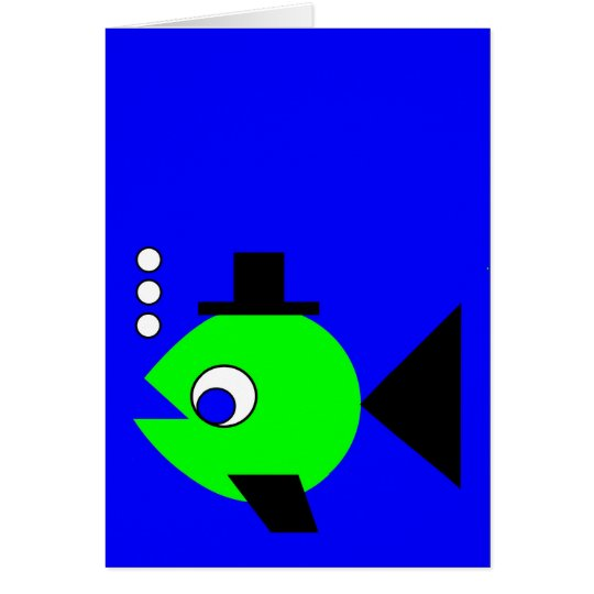 Bubbling Hat Fish Card