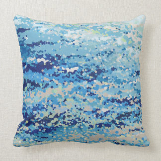 Bubbling Reflections Coastal Decor Pillow by Juul