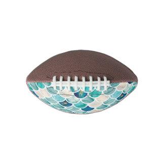 Bubbly Aqua turquoise marble mermaid fish scales Football