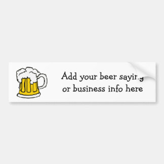 Bubbly Beer!  U-brew or  Brewery Business Bumper Sticker