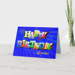 Bubbly Birthday Card For Grandpa