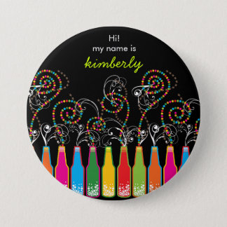 Bubbly Celebrations! Party Name Tag Button