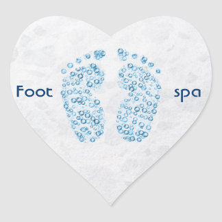 bubbly feet heart sticker