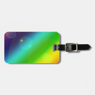 Bubbly Rainbow Bag Tag