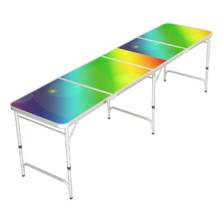 Bubbly Rainbow Beer Pong Table
