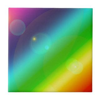 Bubbly Rainbow Ceramic Tile