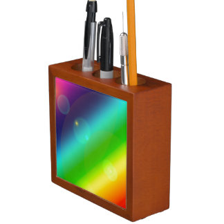 Bubbly Rainbow Desk Organizer