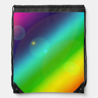 Bubbly Rainbow Drawstring Bag