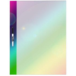 Bubbly Rainbow Dry Erase Board