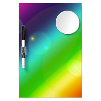 Bubbly Rainbow Dry-Erase Whiteboard