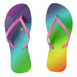 Bubbly Rainbow Flip Flops