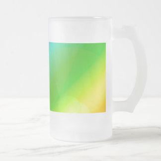 Bubbly Rainbow Frosted Glass Beer Mug