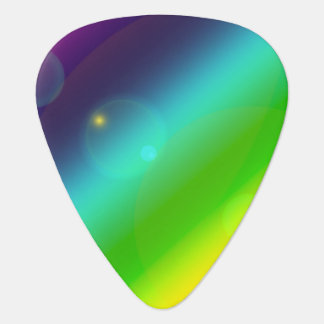 Bubbly Rainbow Guitar Pick