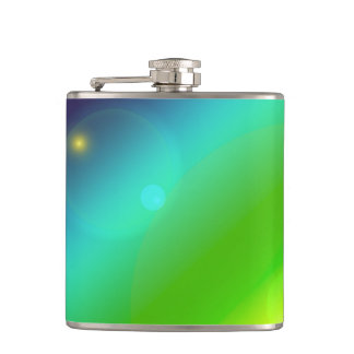 Bubbly Rainbow Hip Flask