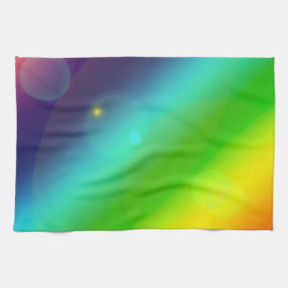 Bubbly Rainbow Kitchen Towel