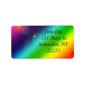 Bubbly Rainbow Label
