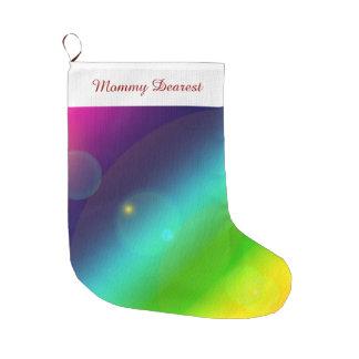 Bubbly Rainbow Large Christmas Stocking