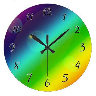 Bubbly Rainbow Large Clock