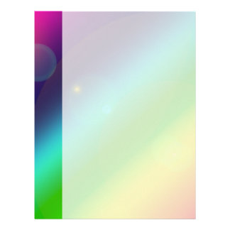 Bubbly Rainbow Letterhead Template