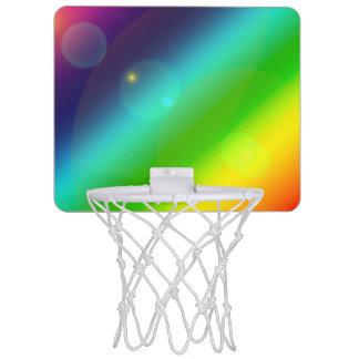 Bubbly Rainbow Mini Basketball Hoop