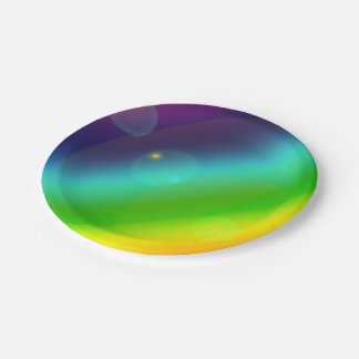 Bubbly Rainbow Paper Plate