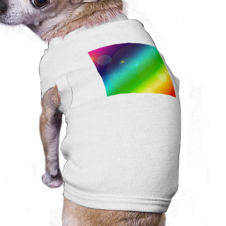 Bubbly Rainbow Pet T Shirt