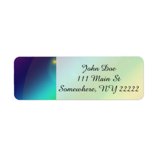 Bubbly Rainbow Return Address Label