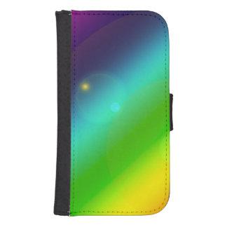 Bubbly Rainbow Samsung S4 Wallet Case