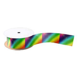 Bubbly Rainbow Satin Ribbon