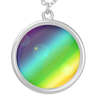 Bubbly Rainbow Silver Plated Necklace