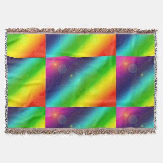 Bubbly Rainbow Throw Blanket