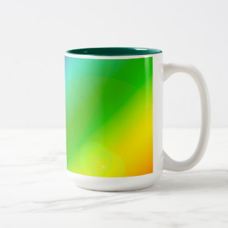 Bubbly Rainbow Two-Tone Coffee Mug