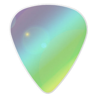 Bubbly Rainbow White Delrin Guitar Pick