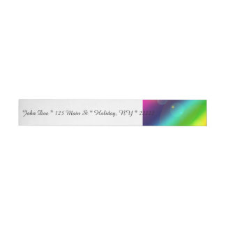Bubbly Rainbow Wraparound Address Label