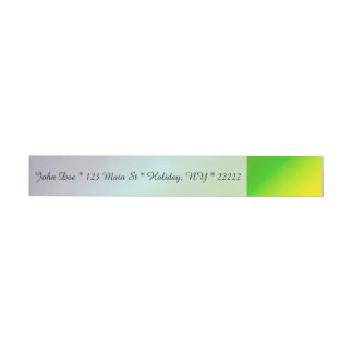 Bubbly Rainbow Wraparound Address Label
