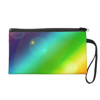 Bubbly Rainbow Wristlet