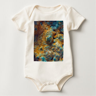 Bubbly Turquoise with Rusty Dust Baby Bodysuit