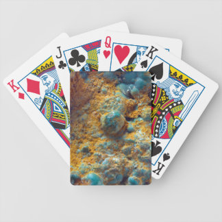Bubbly Turquoise with Rusty Dust Bicycle Playing Cards
