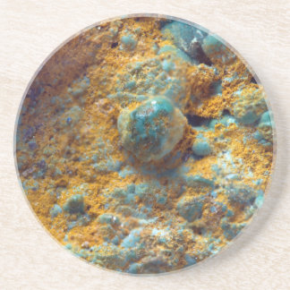 Bubbly Turquoise with Rusty Dust Coaster