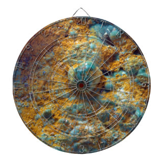 Bubbly Turquoise with Rusty Dust Dartboard